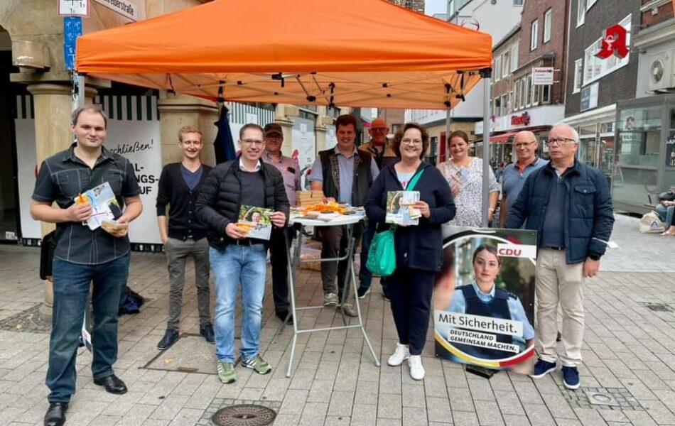 Infostand der CDU Rheine zur Bundestagswahl