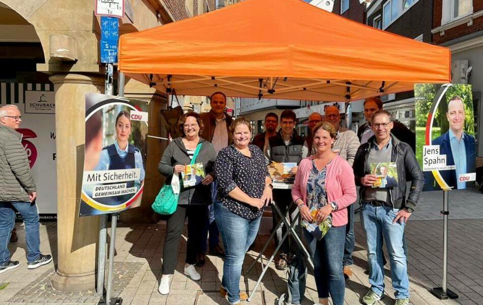 Infostände zur Bundestagwahl in Riesenbeck und Rheine